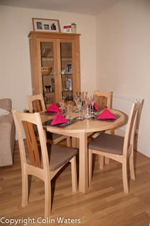 Dining table and chairs in clients house